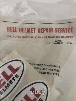 Vintage Nos Bell Helmet Visor 3-snap 520 White MX Motocross Sealed