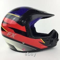 Vintage RARE Fulmer FX Dot Off-Road Motocross Helmet Red / Blue / Black X-Small