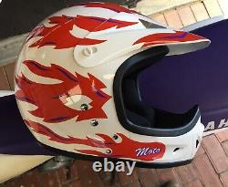 Vintage Retro Motocross VMX Ffm Moto Star Motorbike Fullface Helmet, Old School