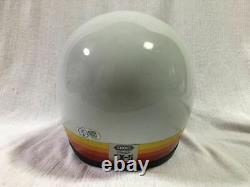 Vintage SHOEI Motocross Full-Face Helmet EX-5 White/ Red Size M Used 70s 80s