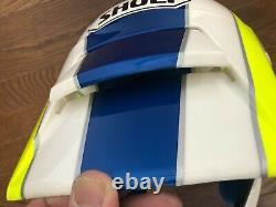 Vintage SHOEI Motocross Full-Face Helmet VX-COUGAR White/Blue/Yellow Size M Used