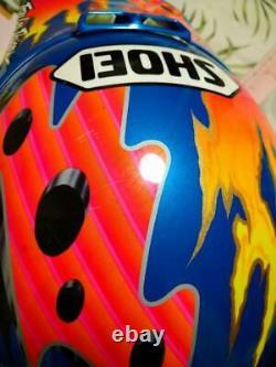 Vintage SHOEI Motocross Helmet VF-XTROYMAX Blue Size M Used 80s 90s