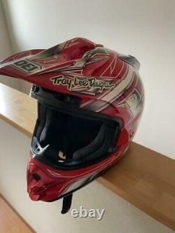 Vintage SHOEI Motocross Helmet VFXDT Troy Lee Designs size M
