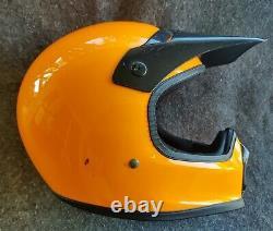 Vintage SHOEI Orange Crush Motocross Helmet size M