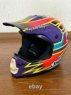 Vintage SHOEI VF-X DAMON BRADSHAW Motocross Helmet Size M Troy Lee Designs