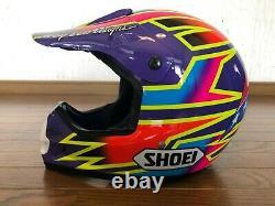 Vintage SHOEI VF-X Motocross Helmet Damon Bradshaw Replica Size L NOS