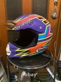 Vintage SHOEI VF-X Motocross Helmet Damon Bradshaw Replica Size XL Free shipping