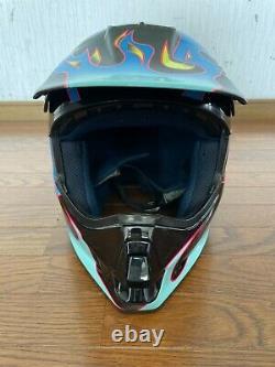 Vintage SHOEI VF-X TROYLEE Motocross Helmet Size XL Black Great Condition