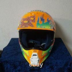 Vintage SHOEI VF-X TROYMAX Motocross Helmet Size L Orange Troy Lee Designs