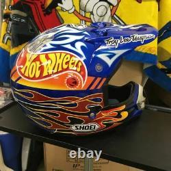 Vintage SHOEI VFX-R HOT WHEELS Motocross Helmet Size L Troy Lee Designs Used