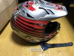 Vintage SHOEI VFX-R Motocross Helmet Size M Silver/ Red Troy Lee Designs