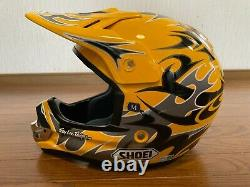Vintage SHOEI VFX-R Motocross Helmet Troy Lee Designs Size M Yellow