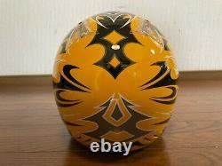 Vintage SHOEI VFX-R Motocross Helmet Troy Lee Designs Size M Yellow Chrome Visor