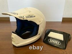 Vintage SHOEI VX-4R Motocross Helmet Size XL White withextra Troy Lee Visor