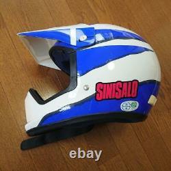 Vintage SHOEI x SINISALO Motocross Helmet (VX-COUGAR) Size M Rare