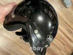 Vintage Shoei 80's NEWSR-X7 Motocross Black Open Face Motorcycle Bike Helmet L