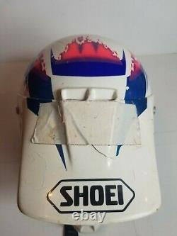 Vintage Shoei Motocross Helmet 90s 1990s Multicolored VF-X Large 7 3/8 7 1/2