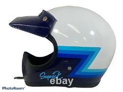Vintage Shoei Supra-X EX-3-80 Moto Cross Helmet M Snell 80 Bell Simpson