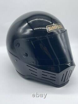 Vintage Simpson Black Darth Vader Motorcycle Motocross MX Helmet Full Face 7 1/4