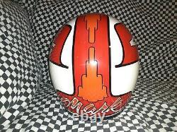 Vintage Simpson m52 MOTO CROSS racers HELMET 7 3/8 VGC WITH VISOR bell arai