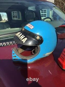 Vintage bell Moto 5 Helmet & team Yamaha crown motorcycle BMX lot of 2
