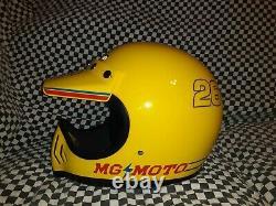 Vintage marsuhin MOTO CROSS racers HELMET M 7 1/8 VGC WITH VISOR bell Simpson