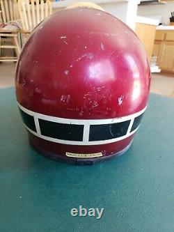 Vintage original motocross yamaha helmet. 1x-10 metallic red