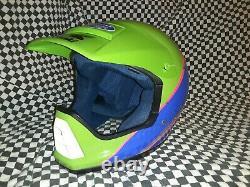 Vintage shoei Kawasaki Racing helmet vf-x Snell85 with visor and Goggles green