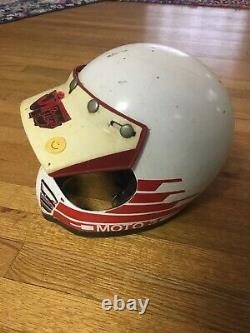 Vtg 70s 80s BELL MOTO STAR 3 Motocross Racing helmet Size 7-1/4 58cm JT Sticker