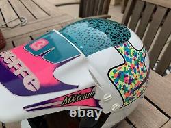 Vtg 80s 90s Bieffe BX6 Helmet Motocross Italy MX TEAM Snell 1992 Medium 58