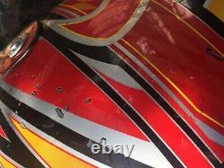 Vtg Answer Racing Motocross Helmet some scratches Red M7 Fiberglass Large-60cm