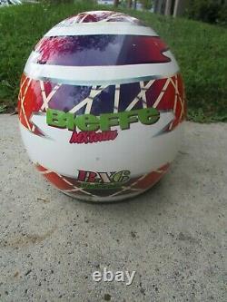 Vtg Bieffe BX6 Full Face Helmet Dirt Bike Motocross Italy MX TEAM Snell 90 Sz Lg