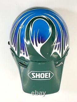 Vtg SHOEI Motorcycle Helmet Troy Lee Designs Motocross Off Road Japan Large L