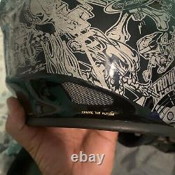 Vtg Troy Lee Designs D2 Helmet History With Bag Euc Rare Htf Black/gold Sz M/l